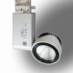20W LED Euro Track Light COB Zwart