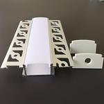 200cm LED stucprofiel / gips profiel - voor twee ledstrips
