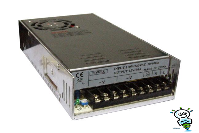 360W 15A -24V IP20 Voeding