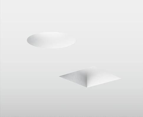 Trimless Inbouwspot GIPS - vierkant: Ø100x100x40mm