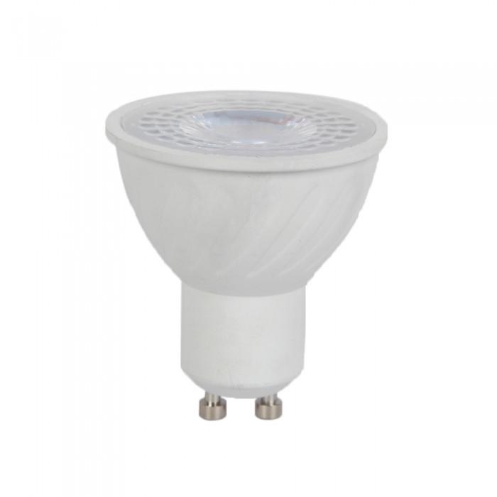 6W GU10 LED PLASTIC SPOT 2700K - Warm wit, CRI>95