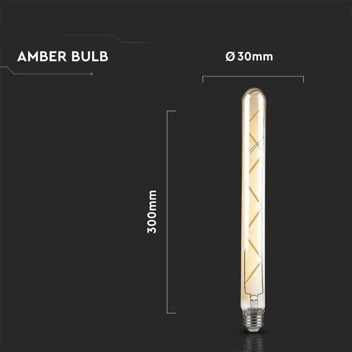 7W T30 LED FILAMENT BULB AMBER GLASS 2200K E27