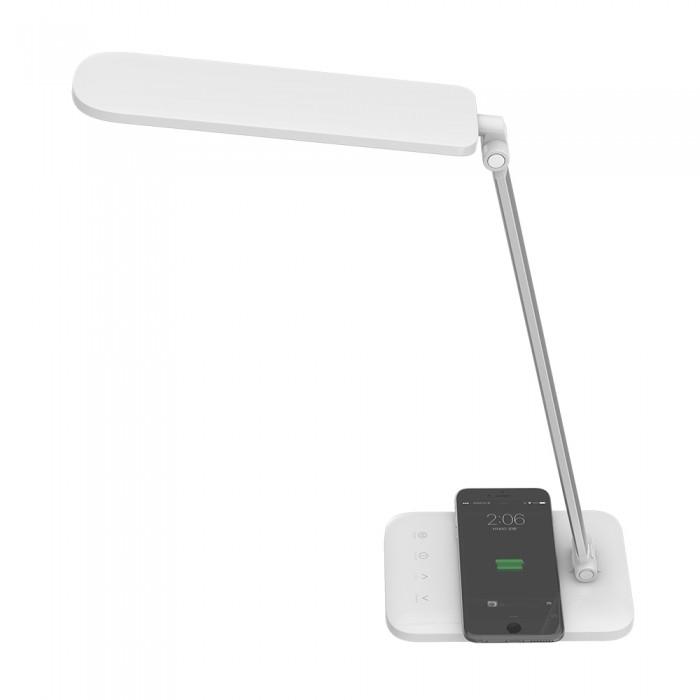 Bureaulamp met QI Draadloos Opladen - CCT Dimbaar