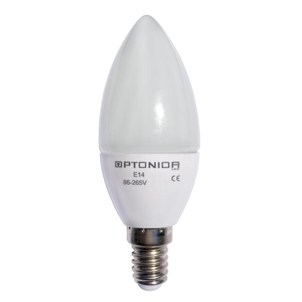 Kaars lamp E14 -4 watt - warm wit