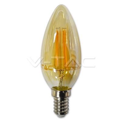 LED fillament 4W amber kaars