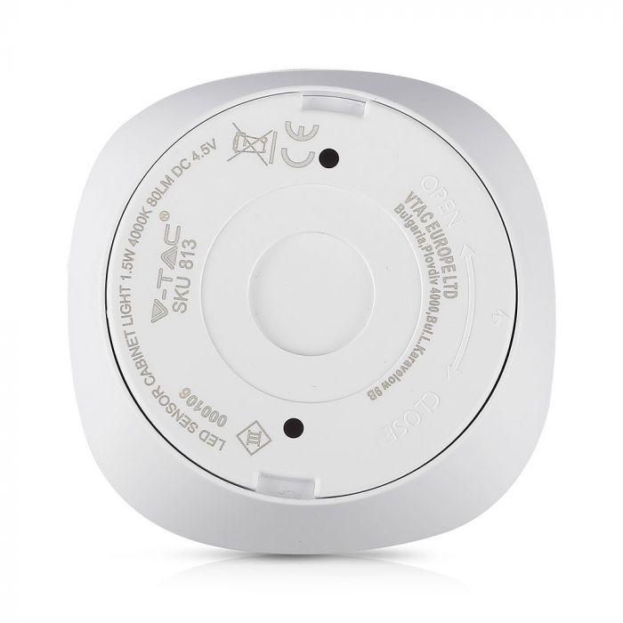 LED Kastverlichting - 1W - 3xAAA Batterijen - Sensor - Onder