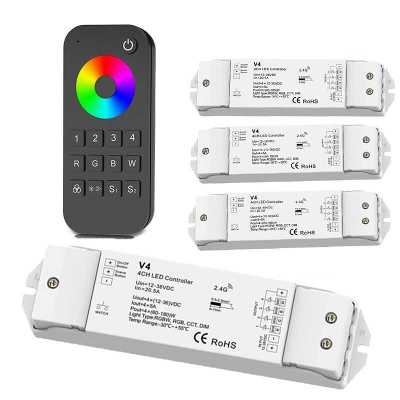 LED RGB/RGBW Remote Sensor 4 Zones RF 2.4G RT9