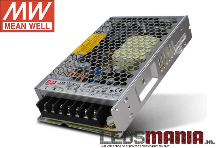 Mean Well professionele LED voeding 150W,12V - DIMBAAR