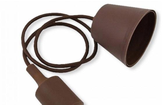 Silicone Armatuur hanglamp Bruin