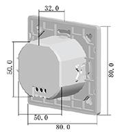VT-8023 MICROWAVE SENSOR inbouw muur