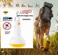 anti-insecten lamp LED 5W oplaadbaar