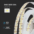 204 leds per meter - LED STRIP WARM WIT :3000K IP20